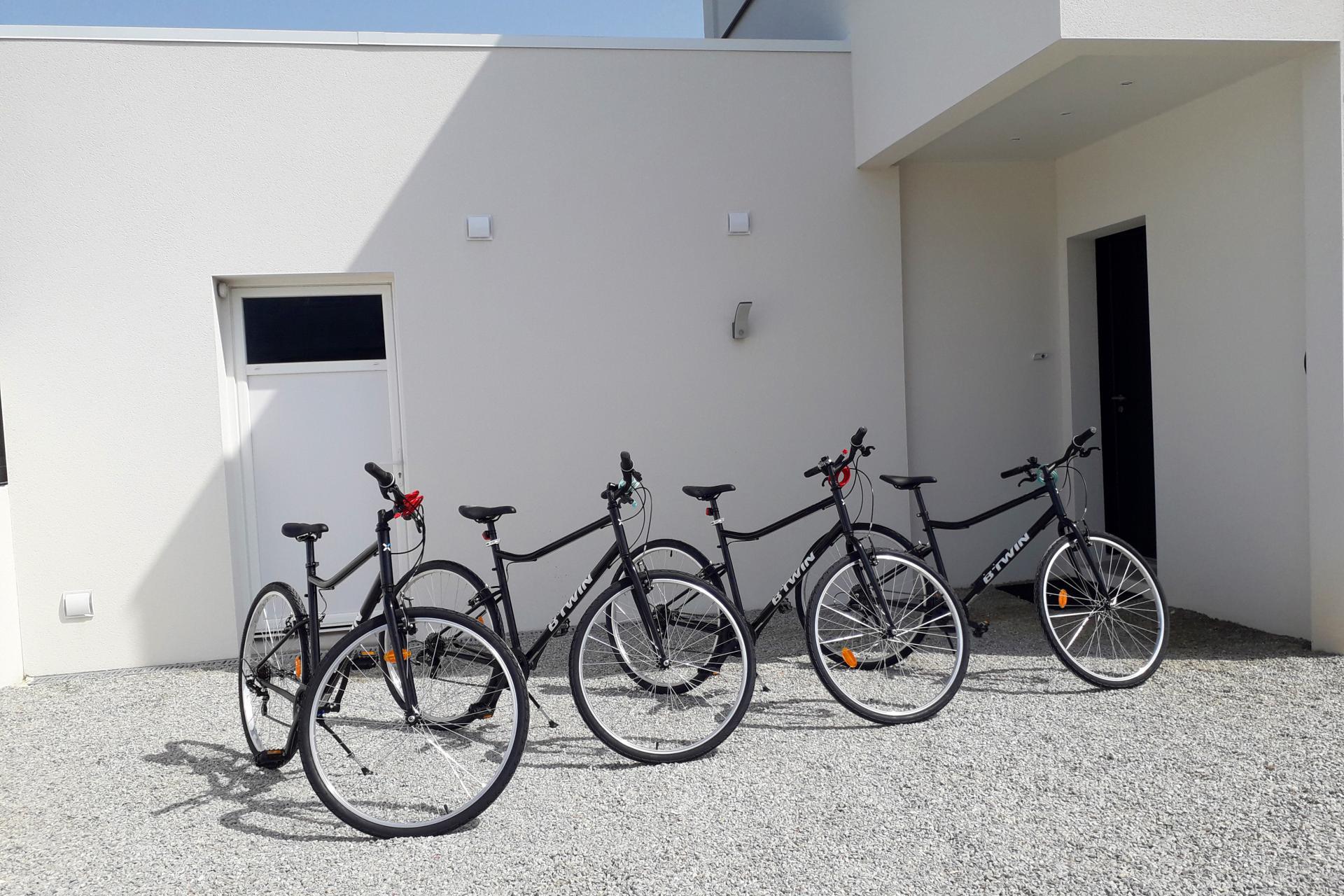 4 vélos adultes à disposition