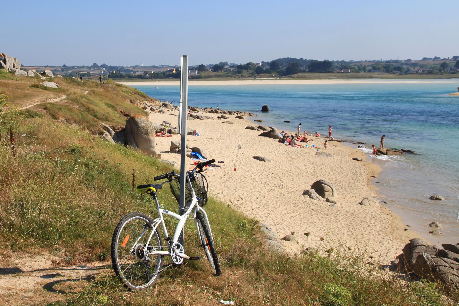 Randonnée à vélo sur les dunes